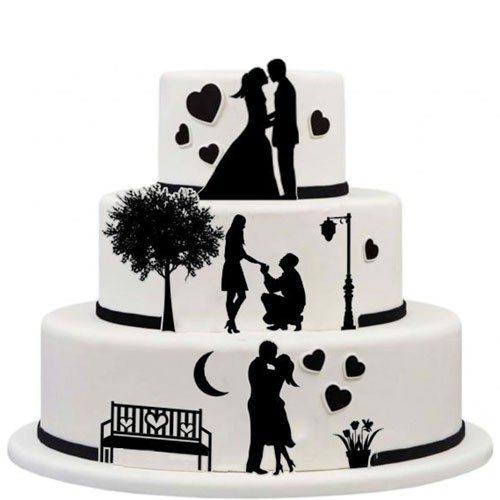 Tortenaufleger Kuchen Tattoo Hochzeit