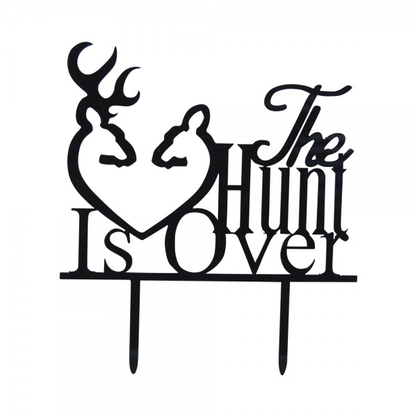 "Cake-Topper ""The Hunt is over"" Schwarz"