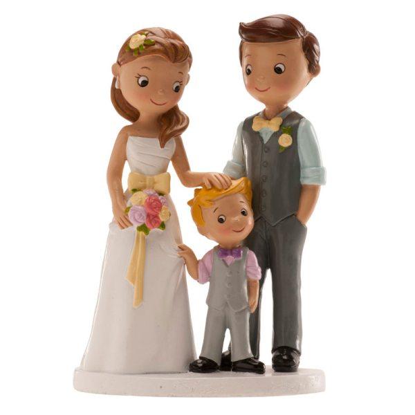 "Brautpaar ""mit Sohn"" 16cm"