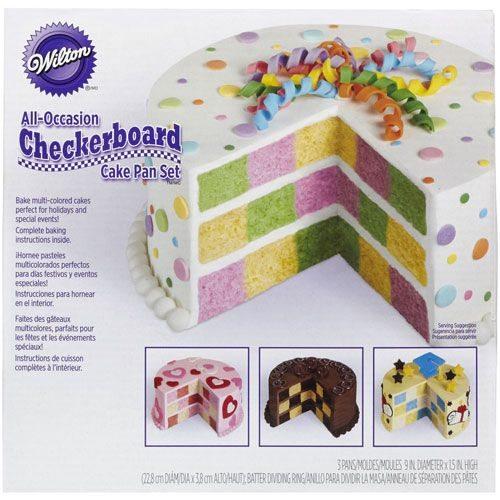 Wilton Checkerboard Cake Set/4