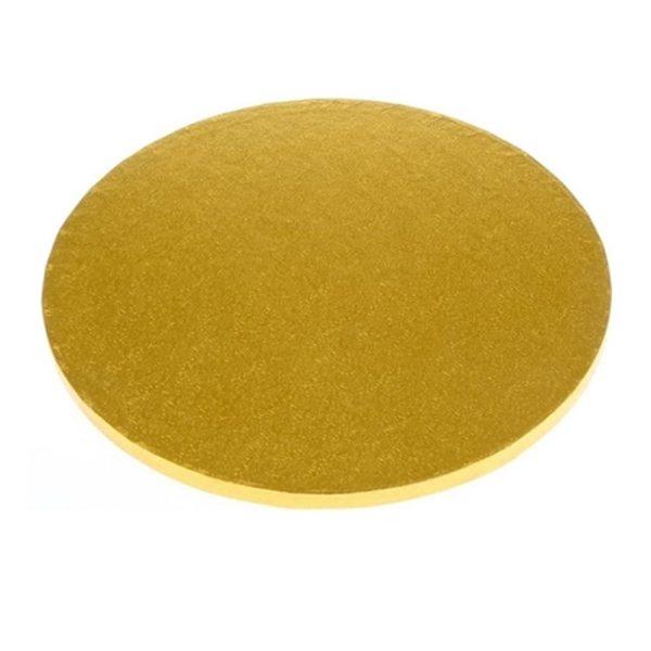Tortenplatte rund Gold 30cm - 1 Stück