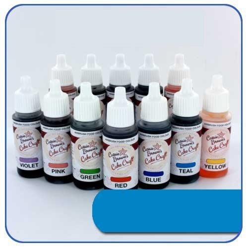 Blaue - Airbrush Lebensmittelfarbe Cassie Brown's 17 ml