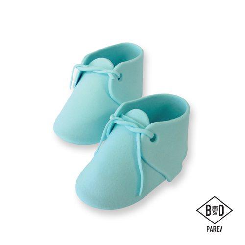 PME essbare Cake Topper Baby Schuhe Blue 2 Stück