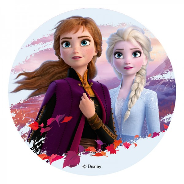 Frozen 2 - Oblatenaufleger - Anna & Elsa