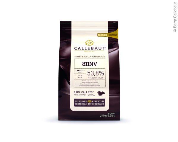 Callebaut Dunkle Schokoladenkuvertüre Zartbitter 2,5kg im wiederverschließbaren Beutel