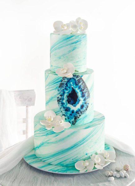 Vorgefertigtes Dekorset Achat blau
