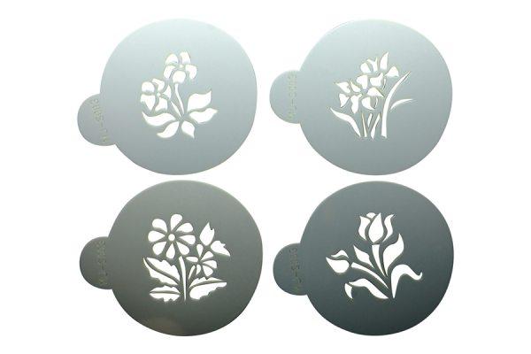"""Tortenkleid """"Dekoration"""" Designer Stencils - kleine botanische Pflanzen"""