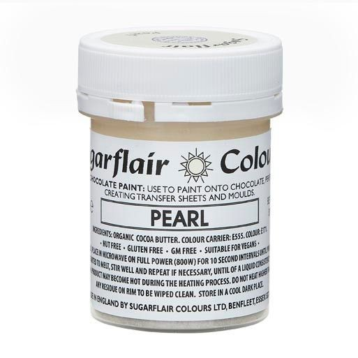 Sugarflair Kakaobutter Farbe Metallic Pearl 35g