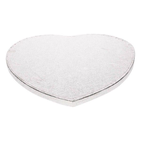 Tortenplatte Herz silber 33 cm / 1 Stück