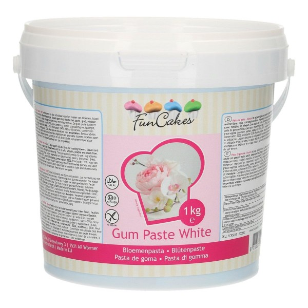 FunCakes Gum Paste / Blütenpaste weiß 1kg