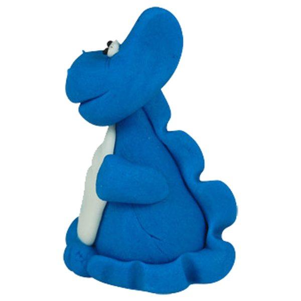 3D Zucker Figur Drache blau 1 Stück