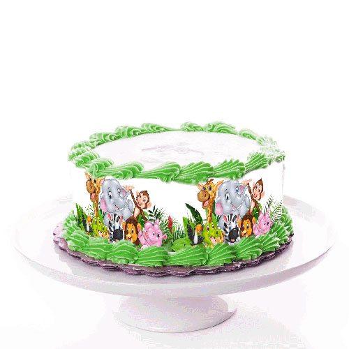 Tortenband Zootiere