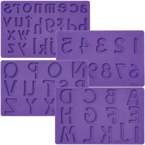 Silikon Prägematte Buchstaben und Zahlen von Wilton