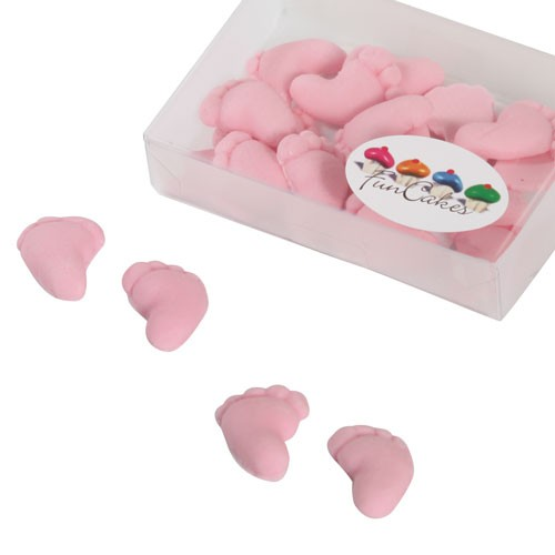 FunCakes Sugarpaste Baby Feet Pink 16 Stück
