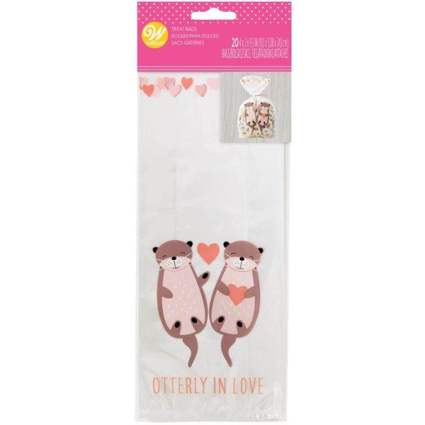 Wilton Geschenktütchen - verliebte Otter - 20 Stück