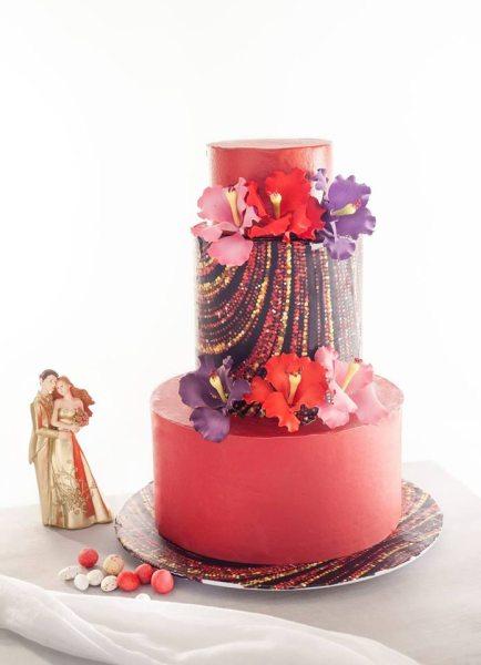 Vorgefertigtes Dekorset Hochzeit rot