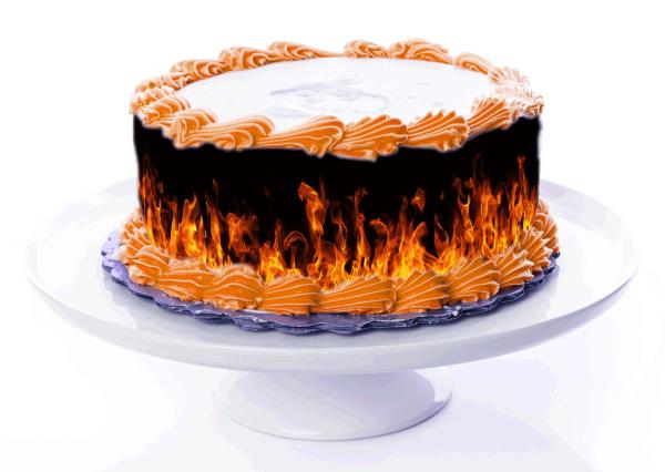 Tortenband Feuer