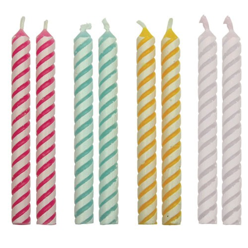 PME Candles Striped Pkg/24
