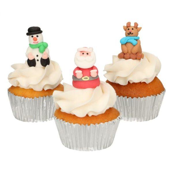 Funcakes Zucker Dekoration 3D Weihnachts Set 3 Stück