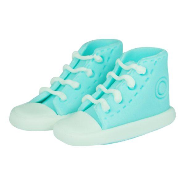 essbare Cake Topper Sneaker / Schuhe blau 2 Stück
