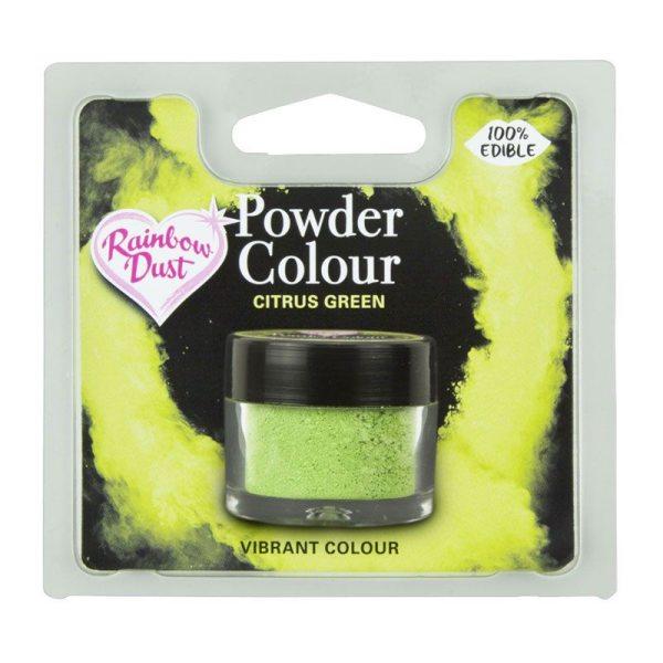 Rainbow Dust / Puderfarbe Citrus Green 2 Gramm