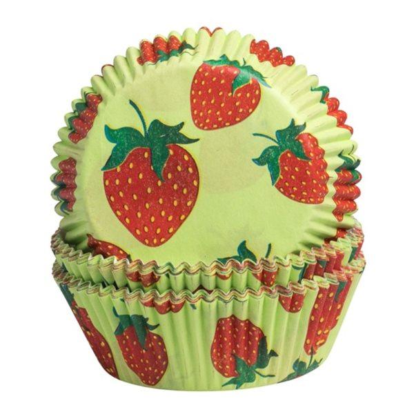 Muffinbackförmchen Erdbeere - 60 Stück