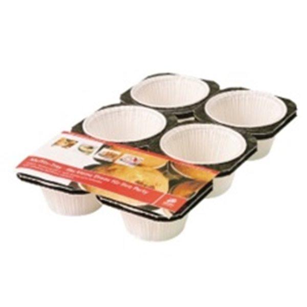 Weiße Muffinförmchen im Tray - 2 Stück