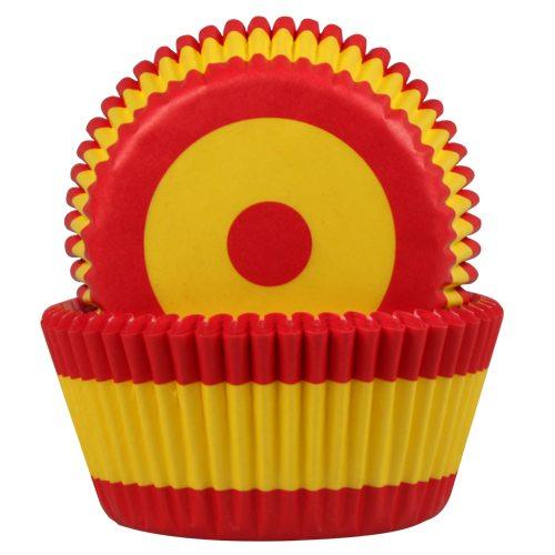 HOM Papier- Muffinbackform Spanische Flagge 50 Stück