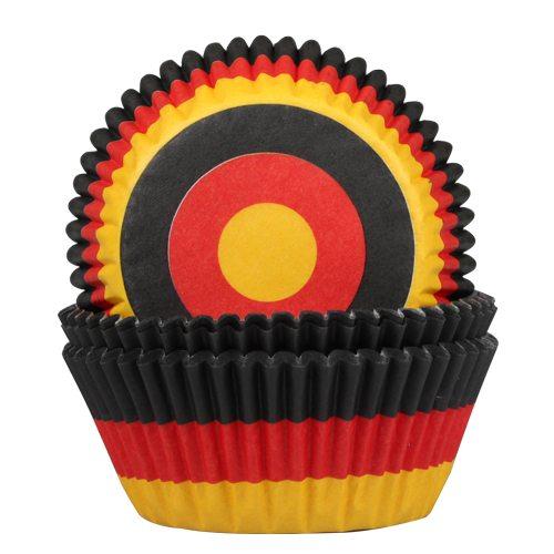 HOM Papier- Muffinbackform Deutsche Flagge 50 Stück