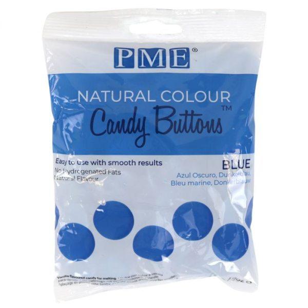 PME Candy Buttons Blau - mit natürlichem Farbstoff - 200g
