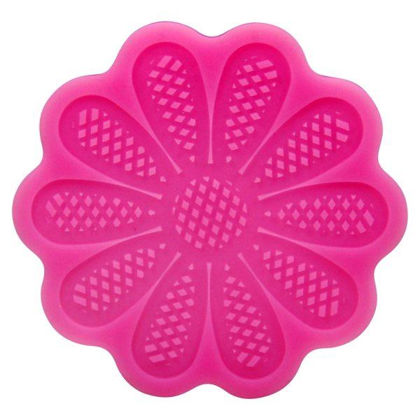 Tortenkleid Dekoration Silikonmatte - Sonnenblume rund