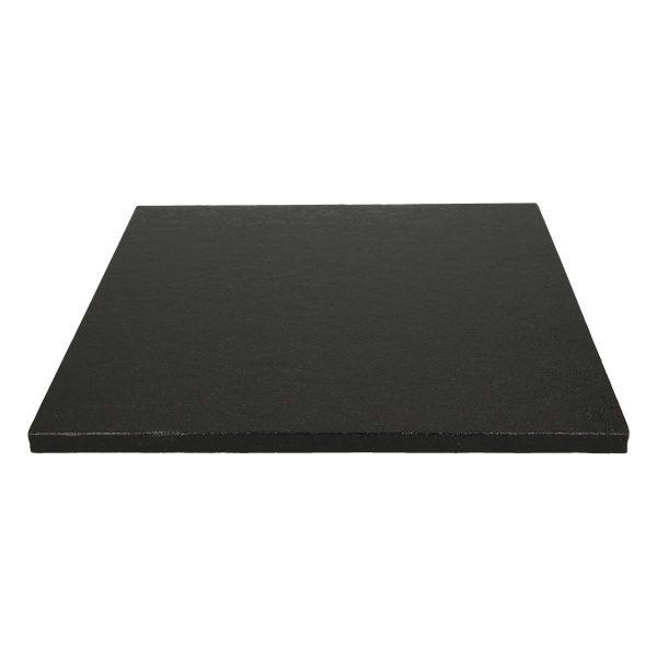 Tortenplatte quadratisch Schwarz 30cm - 1 Stück