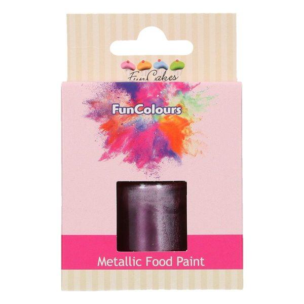 FunCakes Metallic Foodpaint Purple 30ml