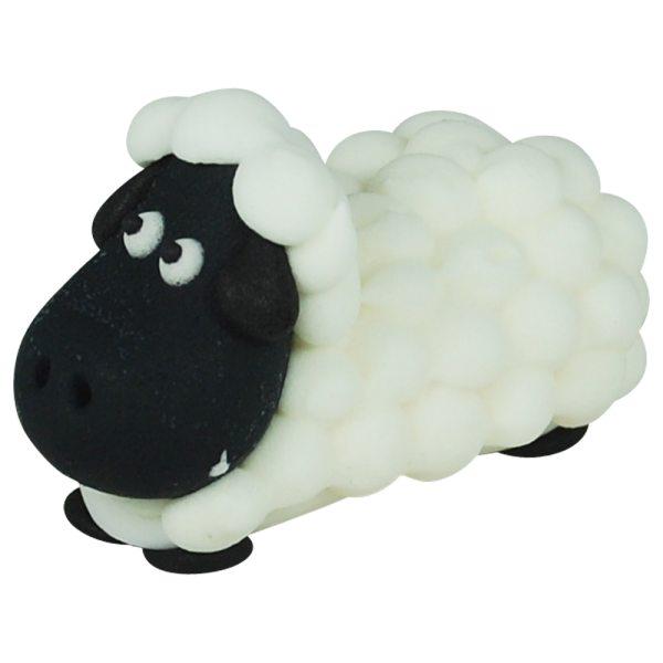 3D Zucker Figur Schaf - schwarz - 1 Stück