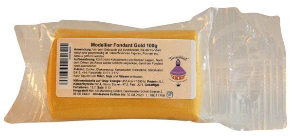 Tortenkleid Modellier Fondant Gold 100g
