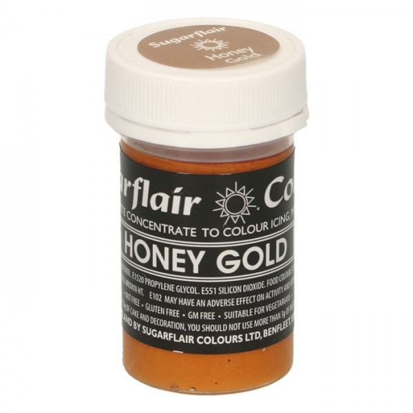Sugarflair Pastel Colour Honey Gold 25g