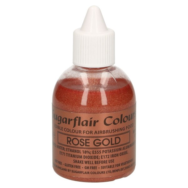 Sugarflair Airbrush Farbe - Glitter Rose Gold - 60ml