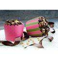 Städter Muffin Wrapper rosa-grün