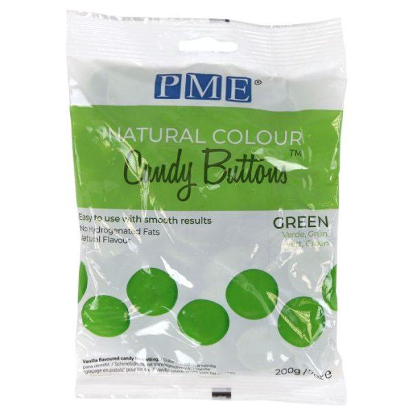 PME Candy Buttons Grün - mit natürlichem Farbstoff - 200g
