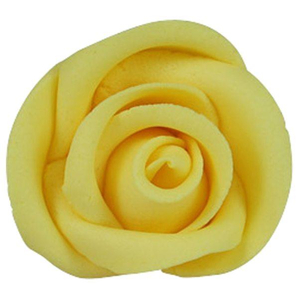 Zuckerrosen Gelb groß 12 Stück 50mm