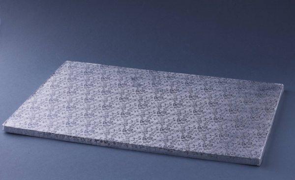 Tortenplatte silber rechteckig 31 x 45 cm / 5 Stück