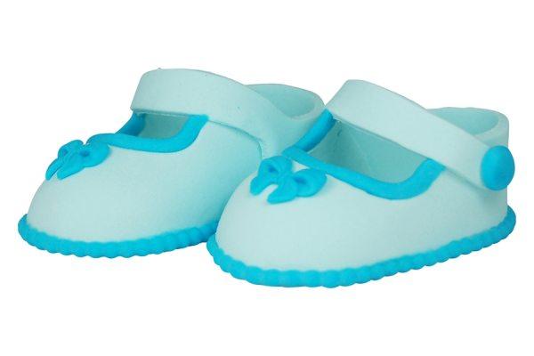 essbare Cake Topper Baby Schuhe Blau 2 Stück