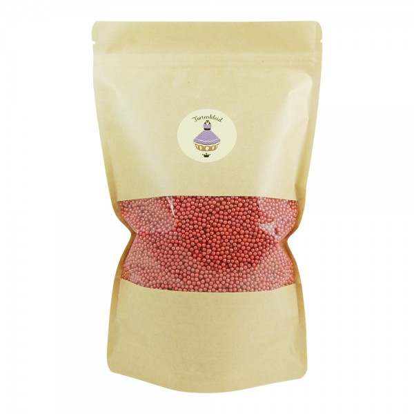 Zuckerperlen 4mm Rot 500g