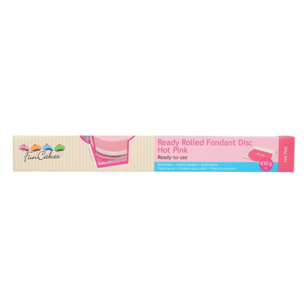 Funcakes Ausgerollte Fondantdecke, Hot-Pink- 36cm Ø