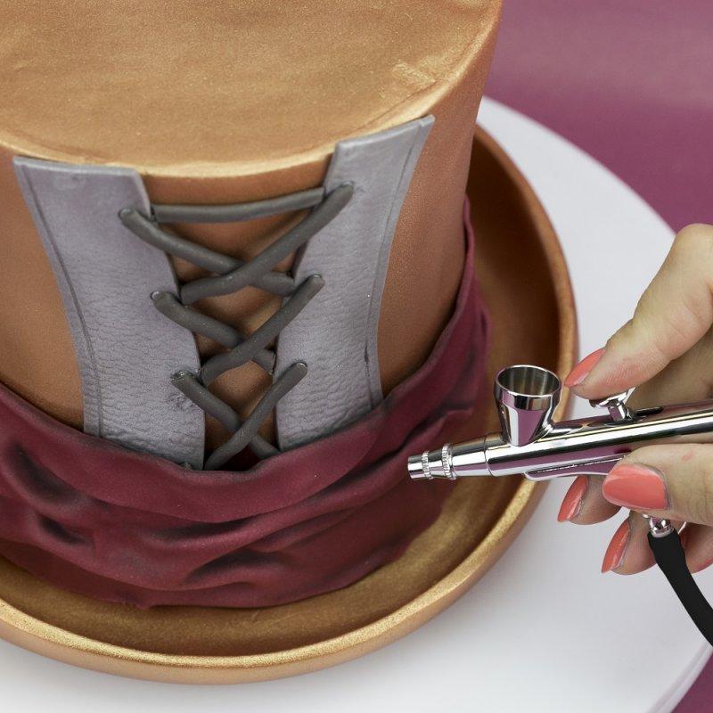 Cake Decorating Airbrush Kompressor Kit Zuckerpapier24 De