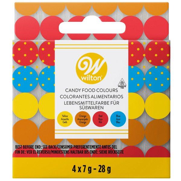 Wilton Candy Farben 4 x 7g (auf Ölbasis)