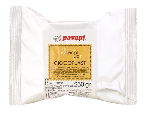 Modellier Schokolade 250 gramm gelb / dunkel