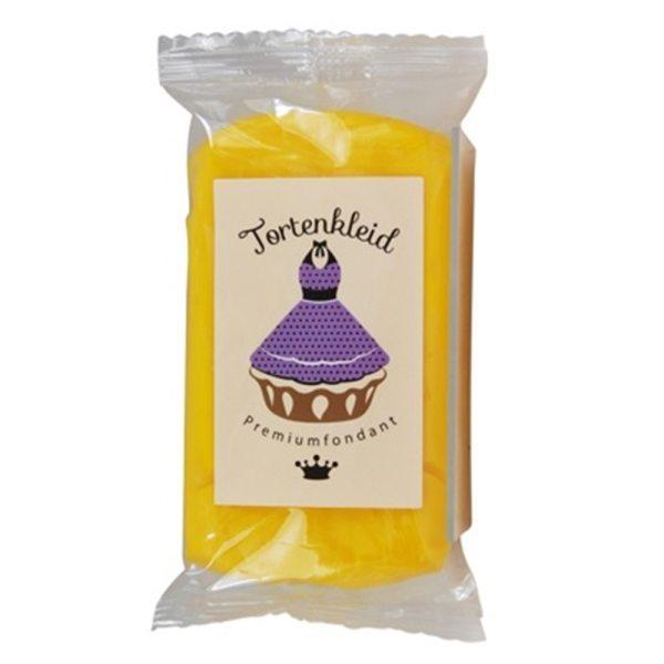 Tortenkleid Rollfondant gelb 250g