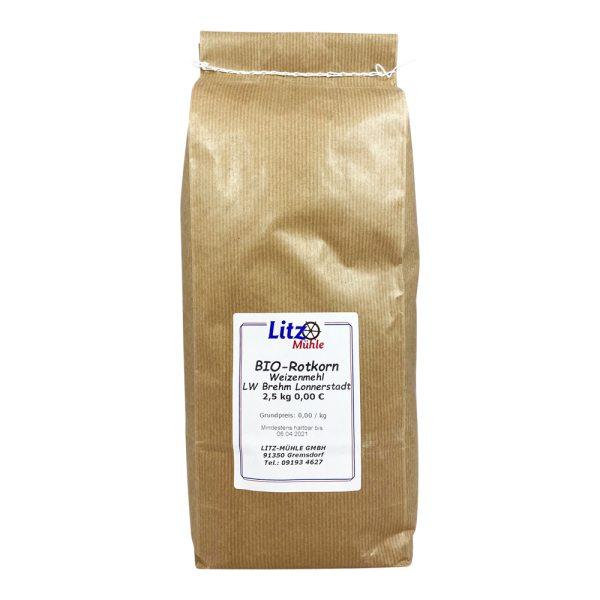 BIO-Rotkorn Weizenmehl 2,5kg