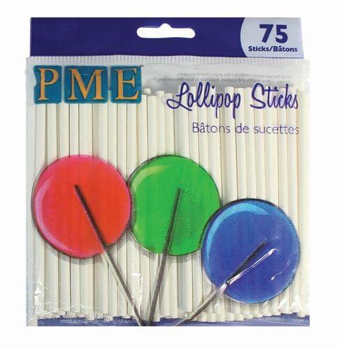 PME Lollipop Sticks 9,5 cm / 75 Stück